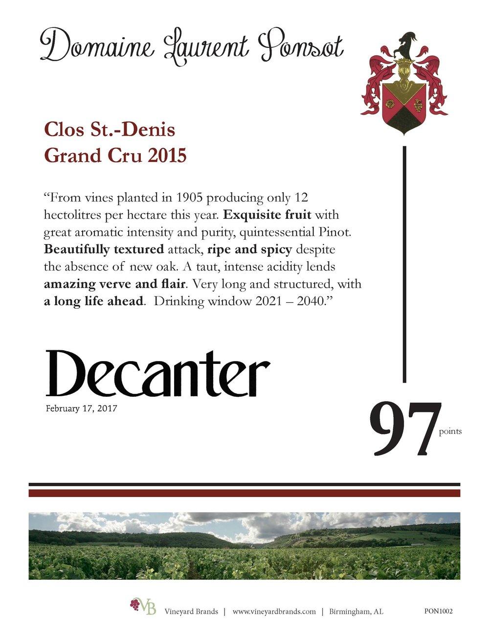 Ponsot Clos St. Denis Grand Cru 2015.jpg