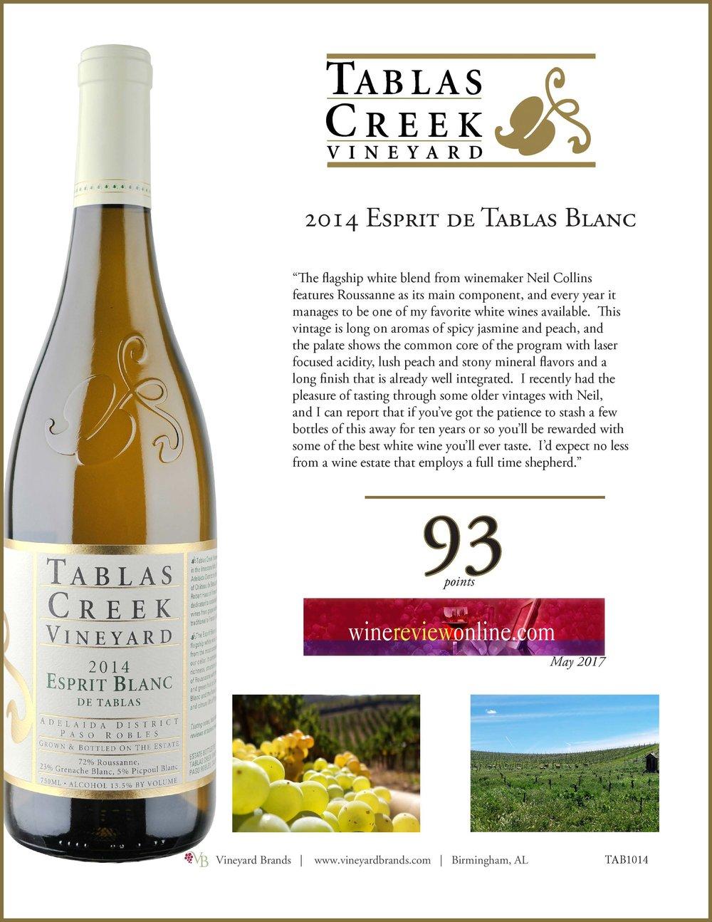 Tablas Creek 2014 Esprit de Tablas Blanc.jpg