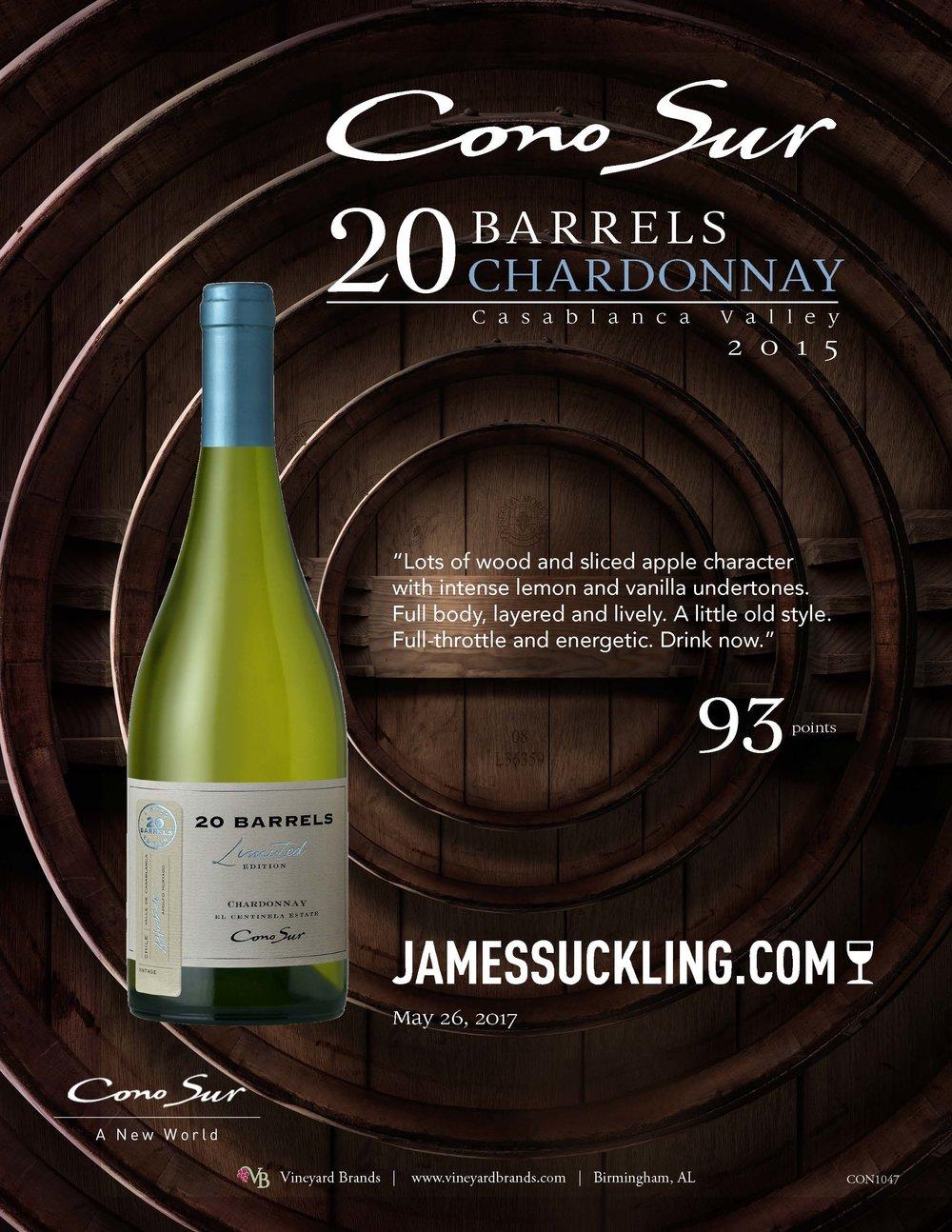 Cono Sur 20 Barrels Chardonnay 2015_JamesSuckling.jpg