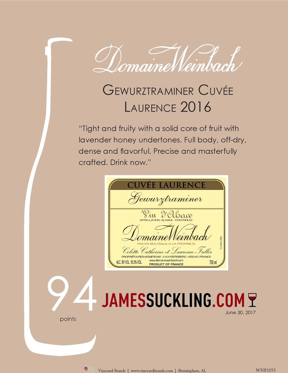Weinbach Gewurztraminer Cuvee Laurence 2016.jpg