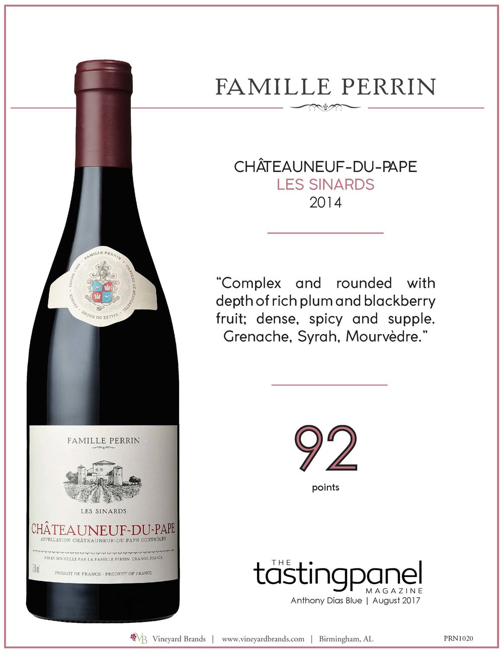Famille Perrin Chateauneuf du Pape Les Sinards 2014.jpg