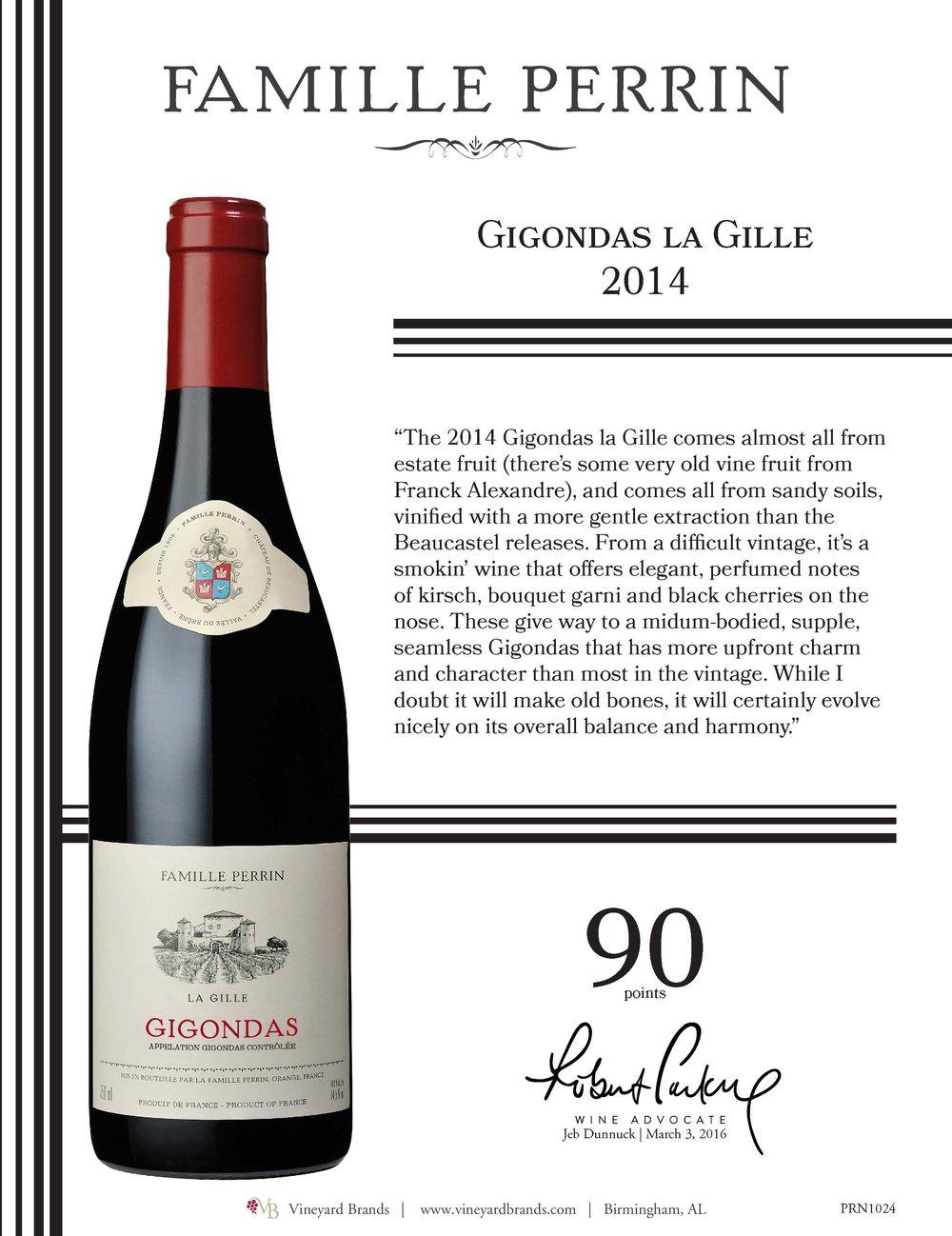 Famille Perrin Gigondas La Gille 2014.jpg