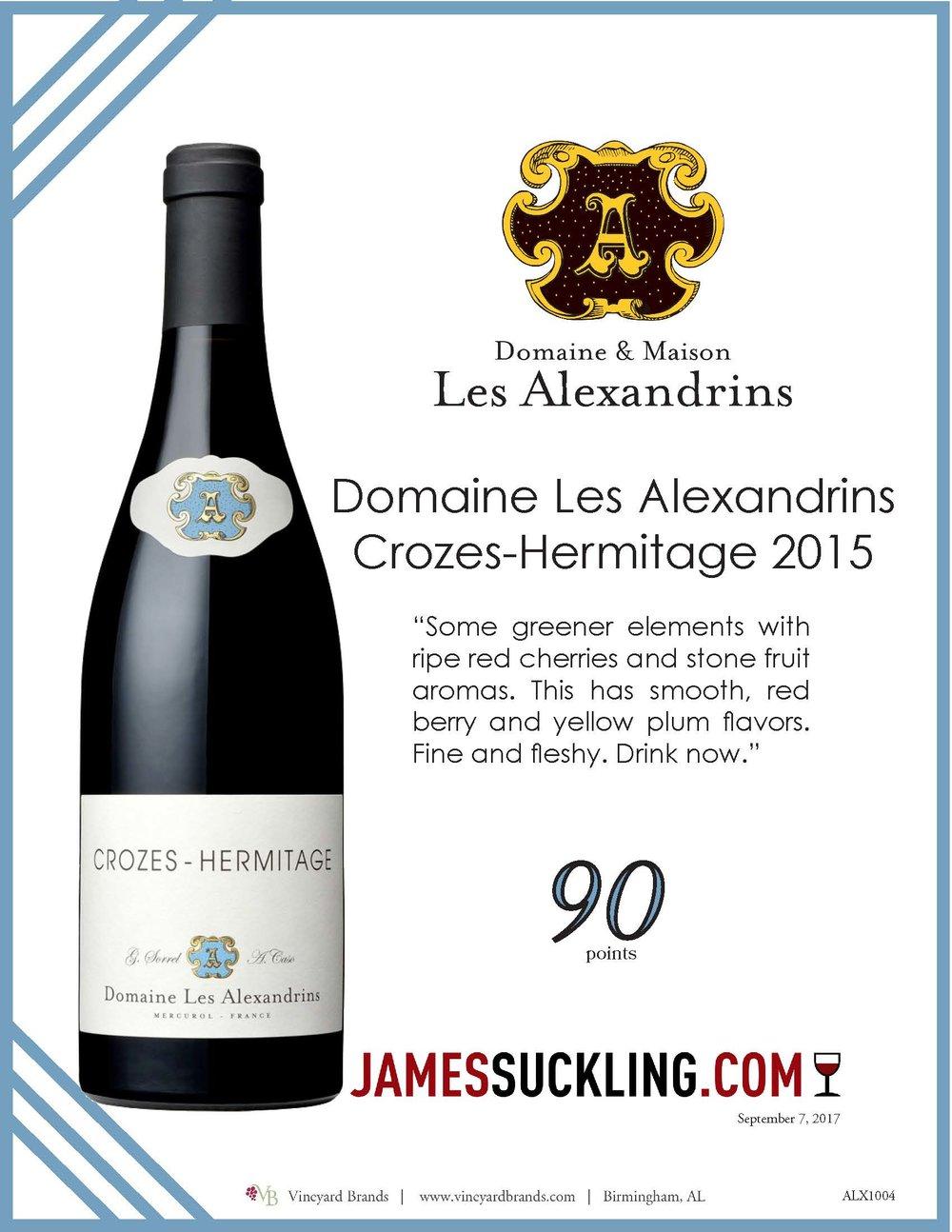 Domaine Les Alexandrins Crozes Hermitage 2015.jpg
