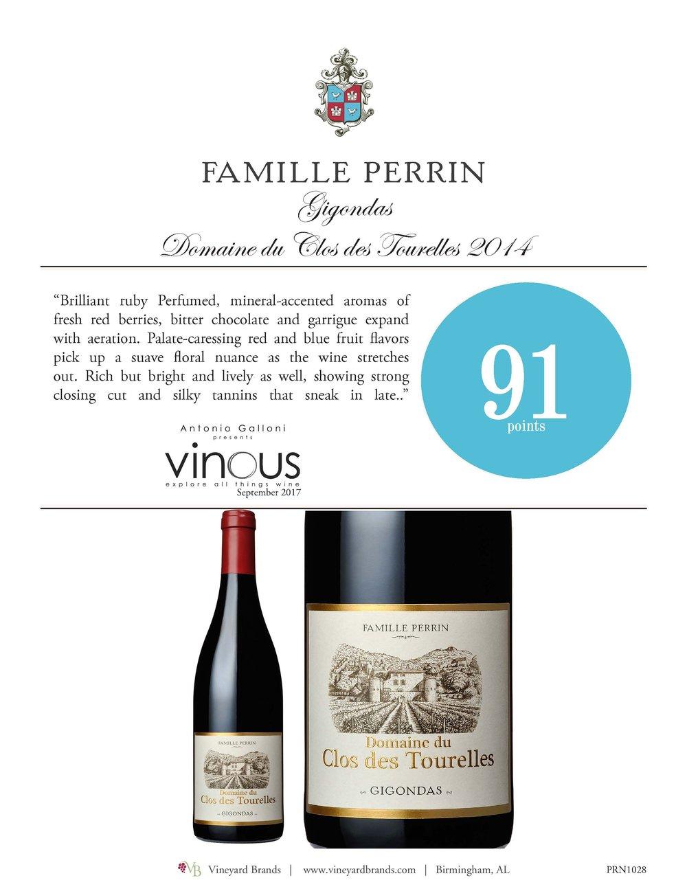 Famille Perrin Gigondas Domaine du Clos des Tourelles 2014.jpg