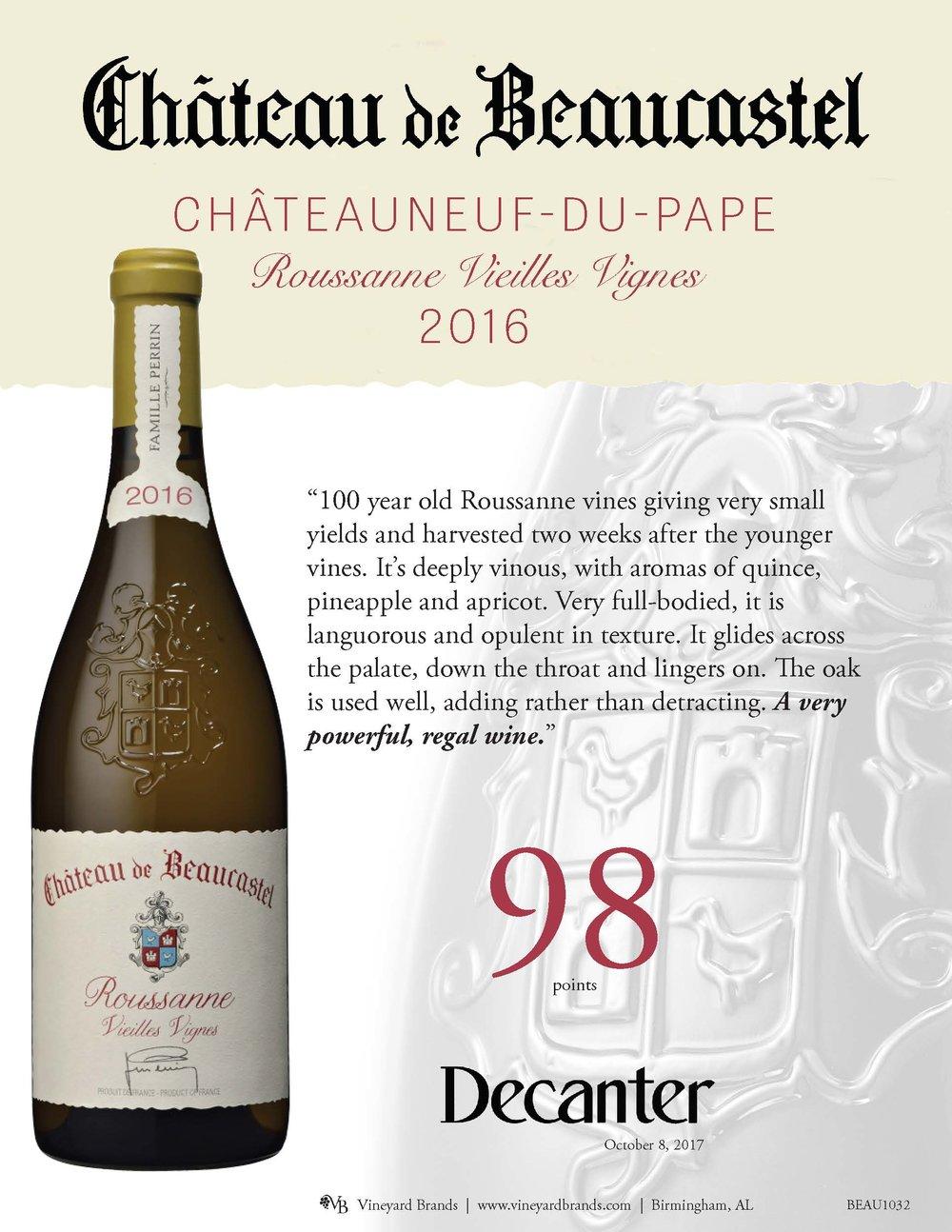 Chateau de Beaucastel CDP Roussanne VV 2016.jpg