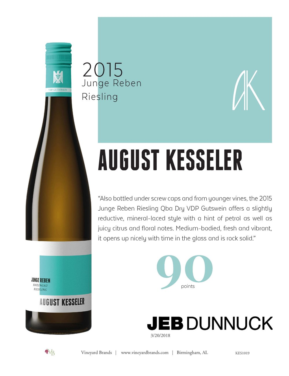 August Kesseler 2015 Junge Reben Riesling.jpg