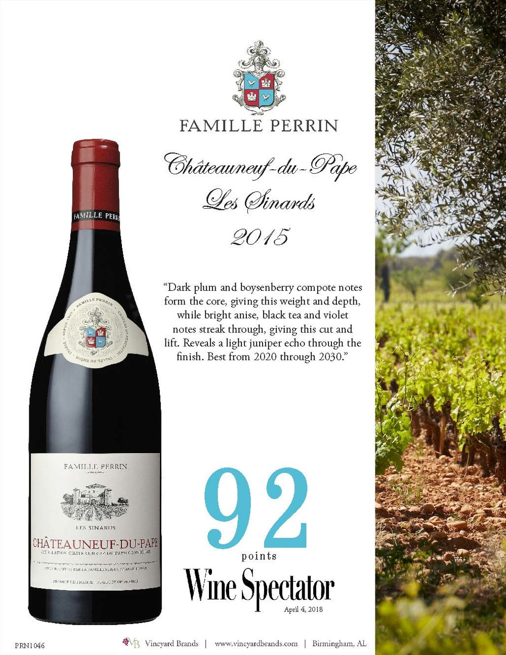 Famille Perrin Chateauneuf du Pape Les Sinards 2015.jpg