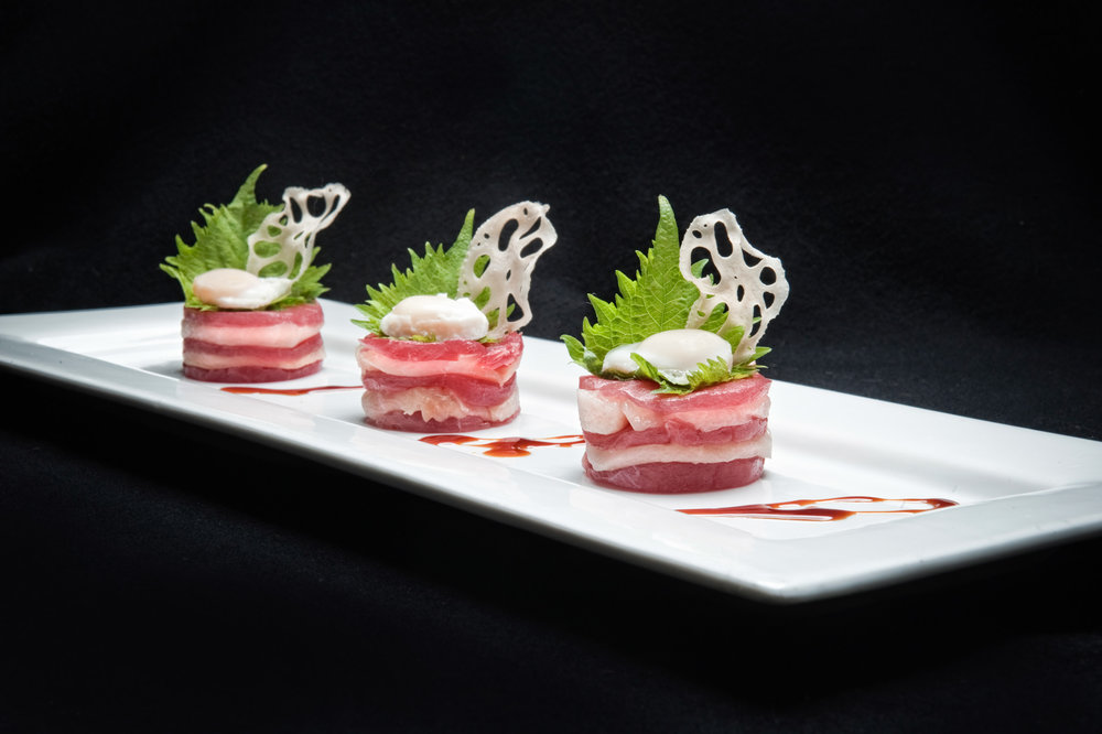 Raw Ahi tuna with homemade cream cheese