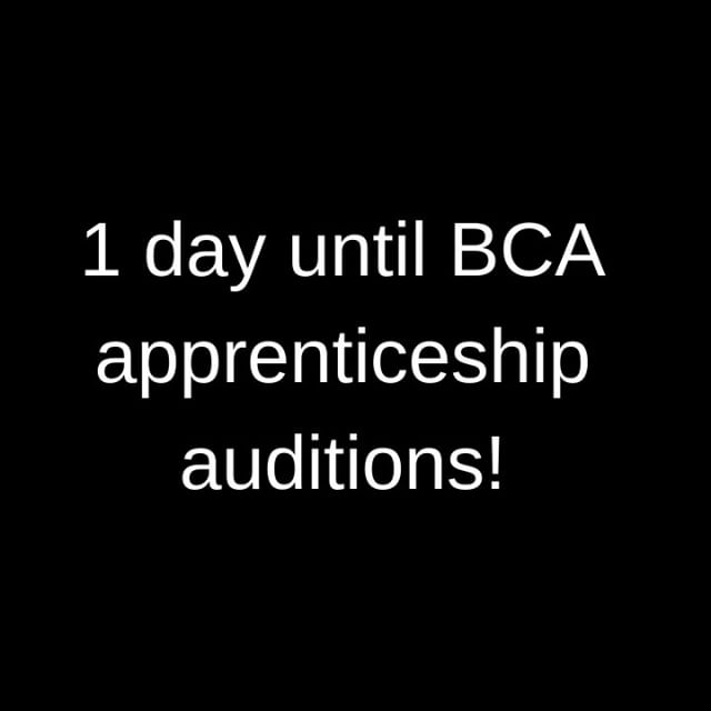A reminder to all BSSM students that there is 1 more day until the BCA Dance & Acting Apprenticeship auditions! To sign up click the link in the bio!