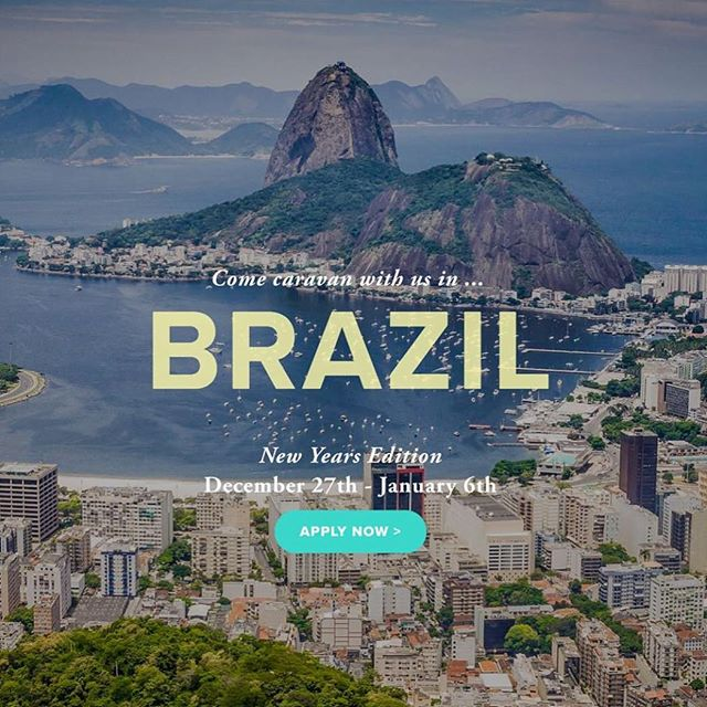 We are super excited to share with all of you that our next Caravan experience is happening this NEW YEARS in BRAZIL 🇧🇷 Fancy celebrating 2017 & designing 2018 on an island in the Brazilian Atlantic Rainforest? Or traveling 500+ miles through Brazil on the most incredible road trip of your life? Or Connecting deeply with yourself, Brazil & a global community of new friends? It's going to be MAGIC. Apply now! Link in bio! #vivabrazil