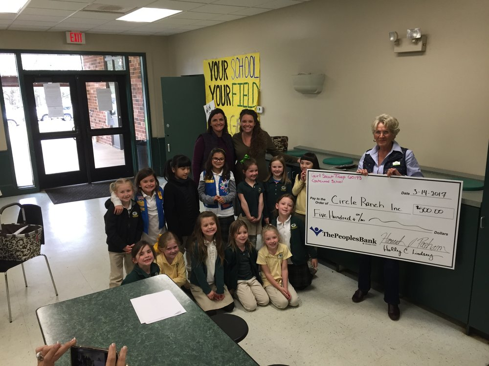 Jody Sandwick, Circle Ranch Inc. and Girl Scout Troop 60173
