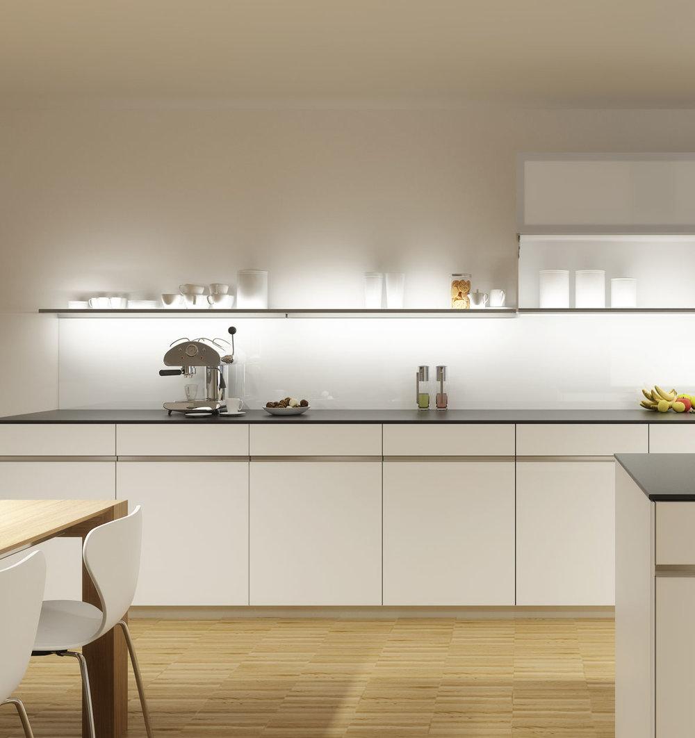 Die Küche ist Teil des Wohnraumes geworden.