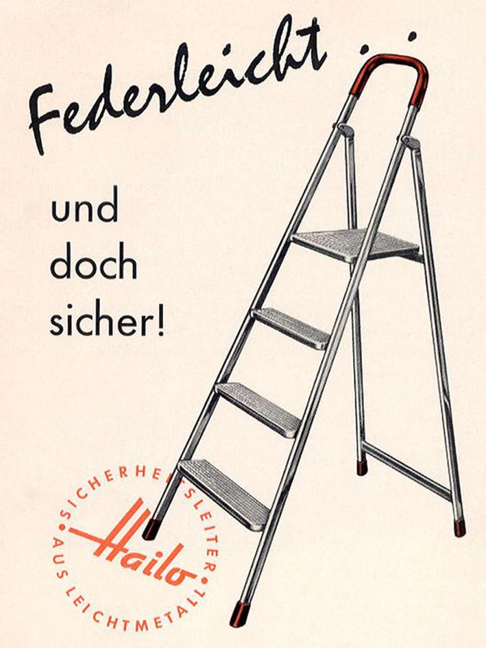 Hailo Aluminium Leiter - 1960