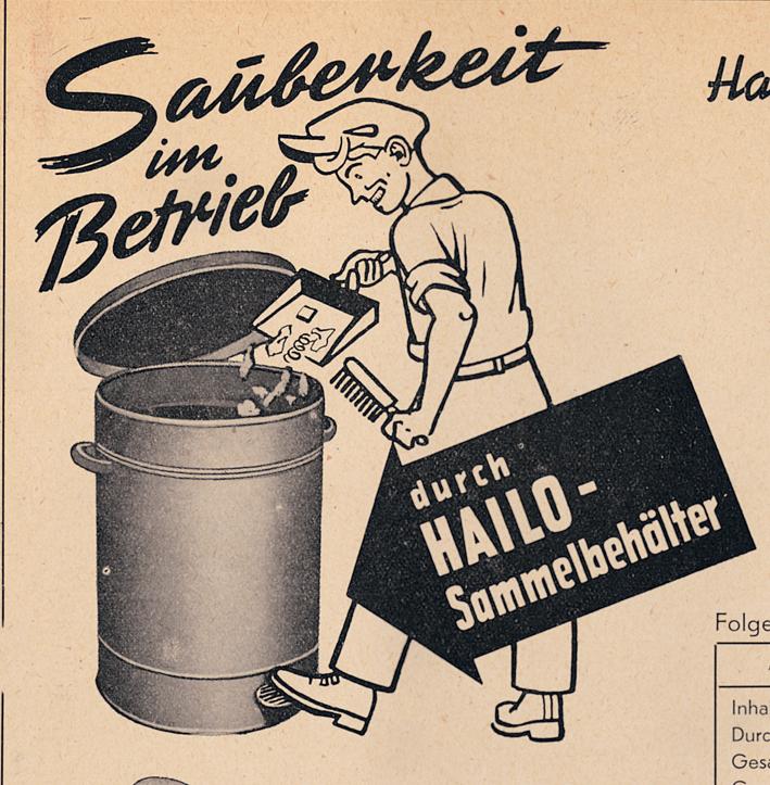 Hailo Abfallbehälter Gewerbe - 1950er