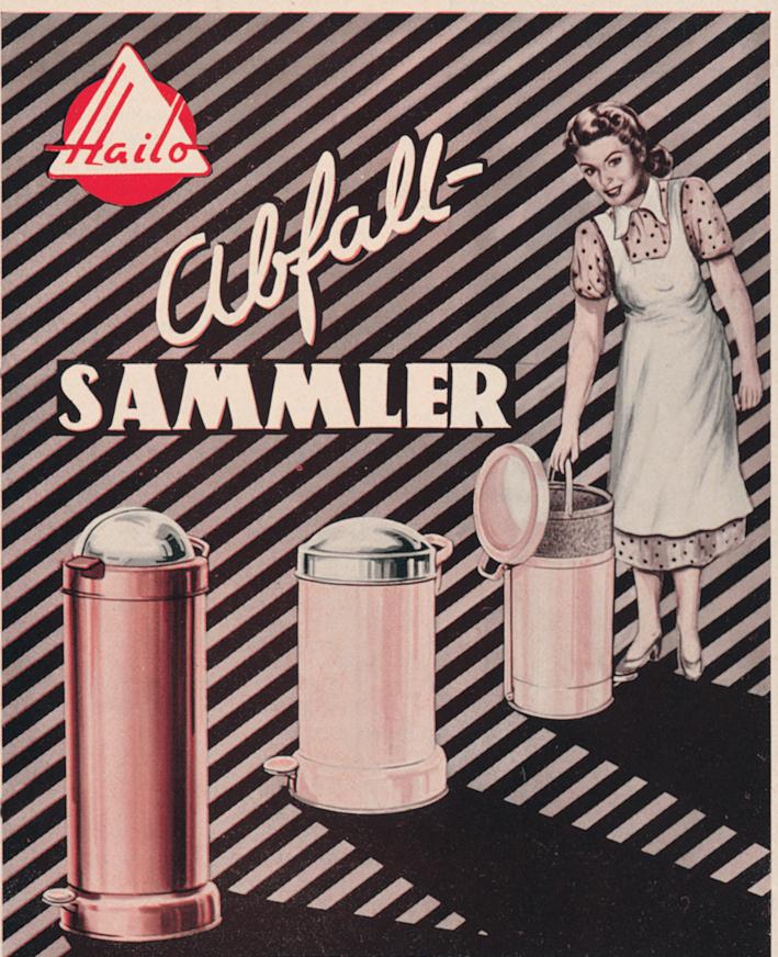 Hailo Abfallbehälter - 1950