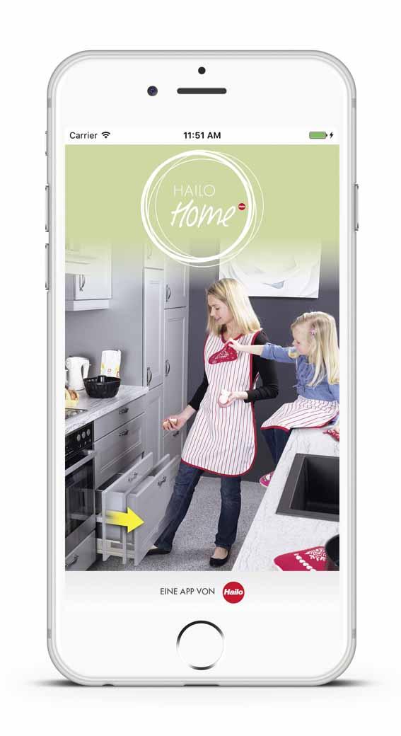 """Libero 2.0 kann mit Hilfe der App """"Hailo Home"""" per Smartphone oder Tablet eingestellt werden."""