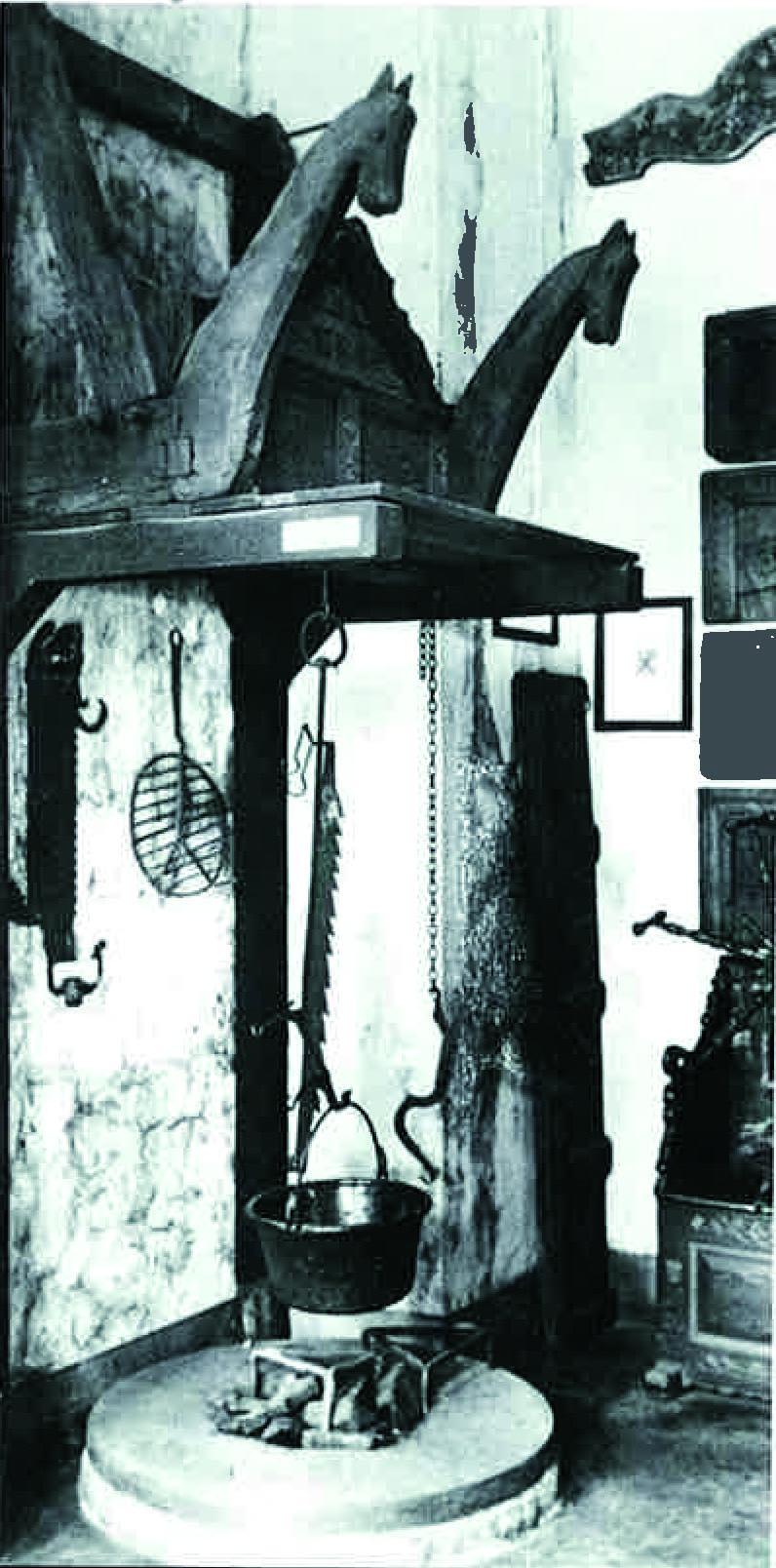 Die offene Feuerstelle mit Schwenktopf ist heute noch in mittelalterlichen Burgen zu sehen.(Foto: AMK)