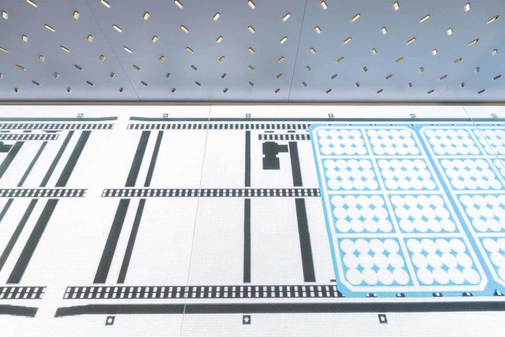 ASB LumiFlex-Boden zeigt das Förderprinzip der Paletten im Kühltunnel