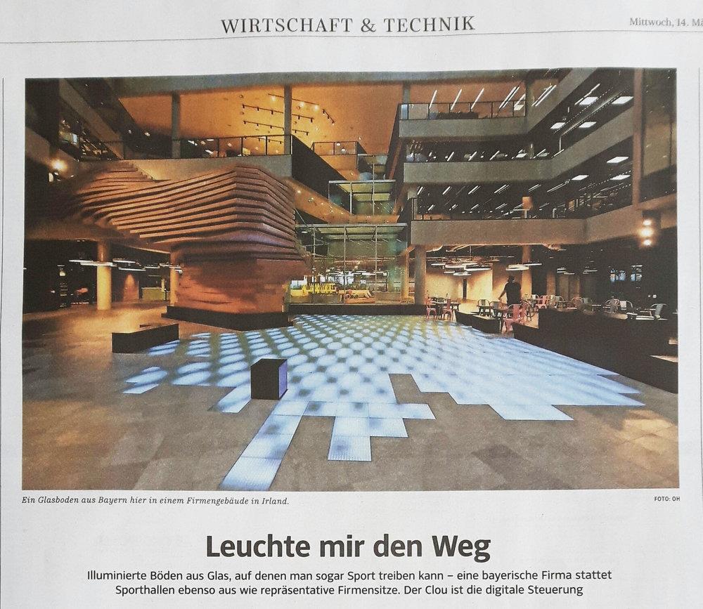 Unternehmensportrait in der Süddeutschen Zeitung