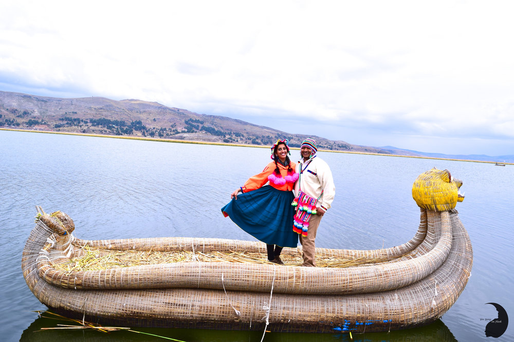 Floating Islands of Uros- Couple Portraits
