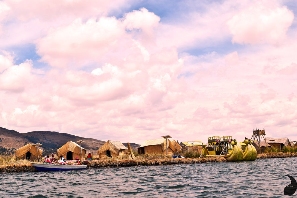 Reed houses on Lake Titicaca