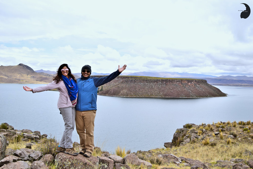 Globe Trotter Couple- Sillustani, Puno
