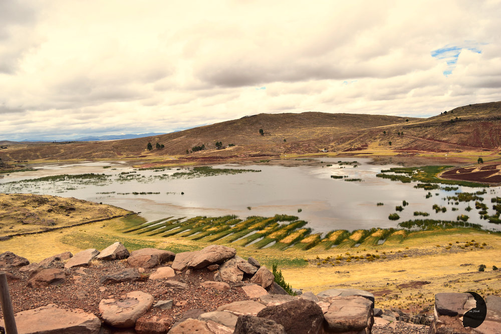 En route to Sillustani, Peru
