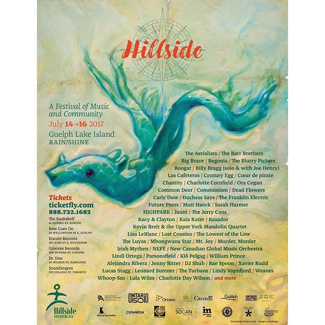 Canada! Happy to be playing @hillsidefestival on Guelph Lake Island this summer along with @lulawiles, @charcorn, @beatricepirate and more. 🏖#FACTORfunded #hillside2017