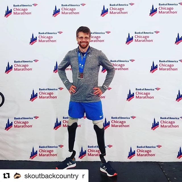 Way to power through Brian! Awesome! . . #Repost @skoutbackcountry with @get_repost ・・・ @brianreynoldsrunner is a Chicago marathon finisher for the second year in a row! Brian fell just short of his goal of sub three hours due to a accidental fall that left him concussed at mile 22. Regardless of the injuries he sustained, Brian finished the race battling black outs and dizziness all the way till the end. Once across the finish line, he ended up with a personal best of 3 hours 3 minutes and 22 seconds. You never cease to amaze us Brian! The results may not have turned out the way you had hoped, but we have the utmost confidence in you crushing that sub 3 next time around🏃🏻‍♂️💪🏼👊🏼.