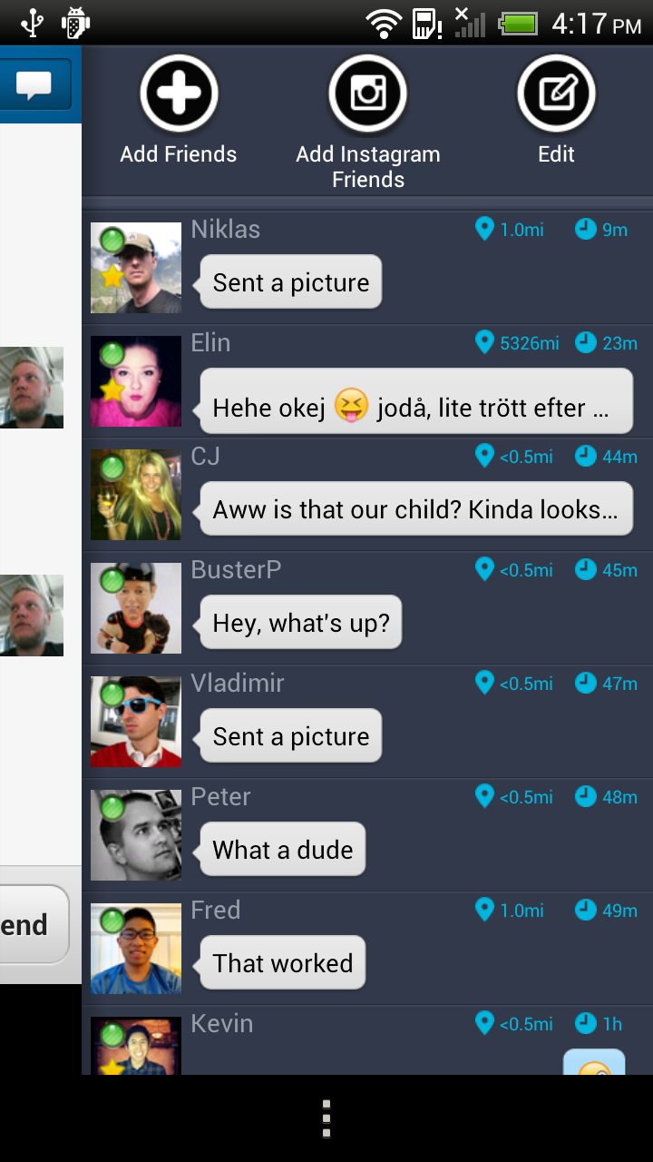 What is skout shake to chat