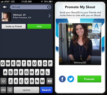 Skout search