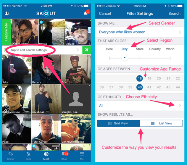 How to change location on skout