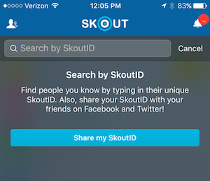 i forgot my skout id