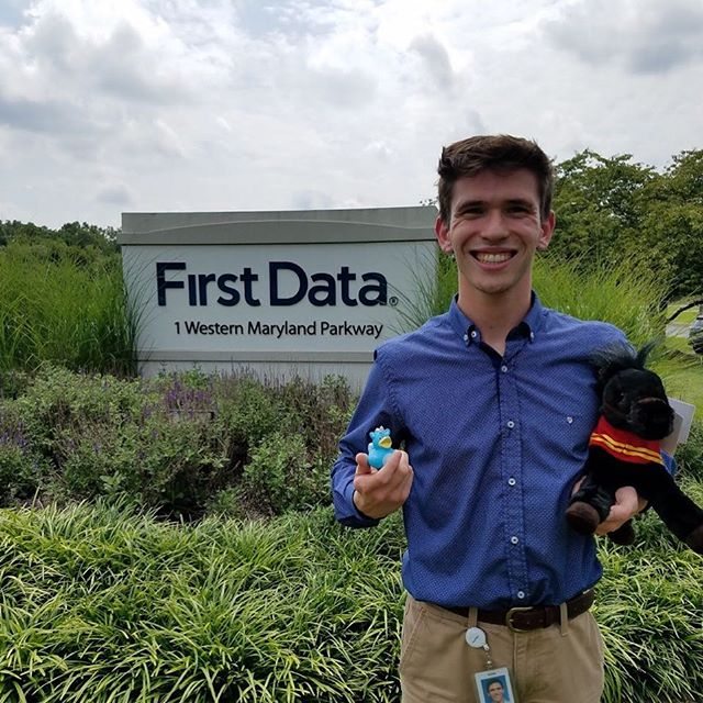 Meet our 2017-2018 Vice President of Marketing, John! He spent the summer as an Intern at First Data Corporation.