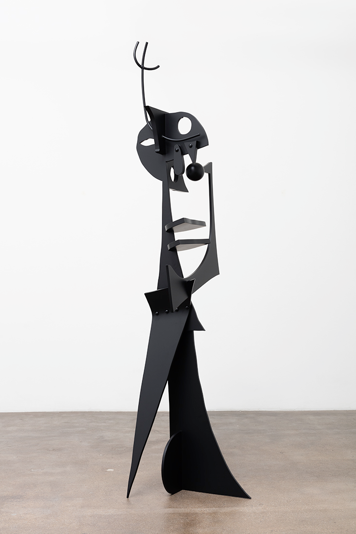 Negative Creep  , 2016, painted aluminum, stainless steel, 96 3/4 x 24 x 25 inches (245.7 x 61 x 63.5 cm)