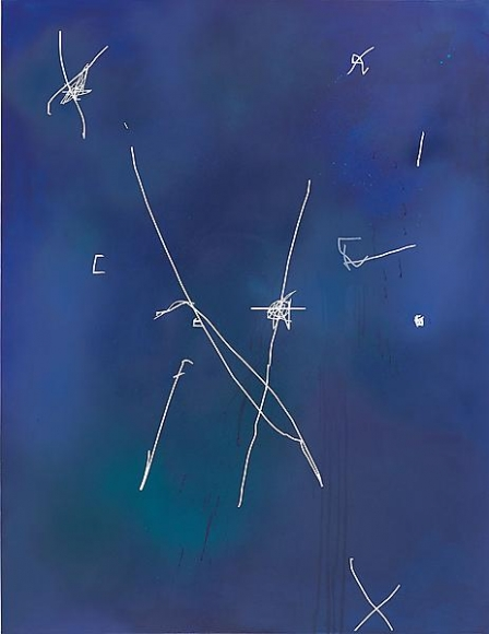 Jeff Elrod   Night Flight  , 2013   Acrylic and ink on canvas   96 x 74 inches    (243.84 x 187.96 cm)