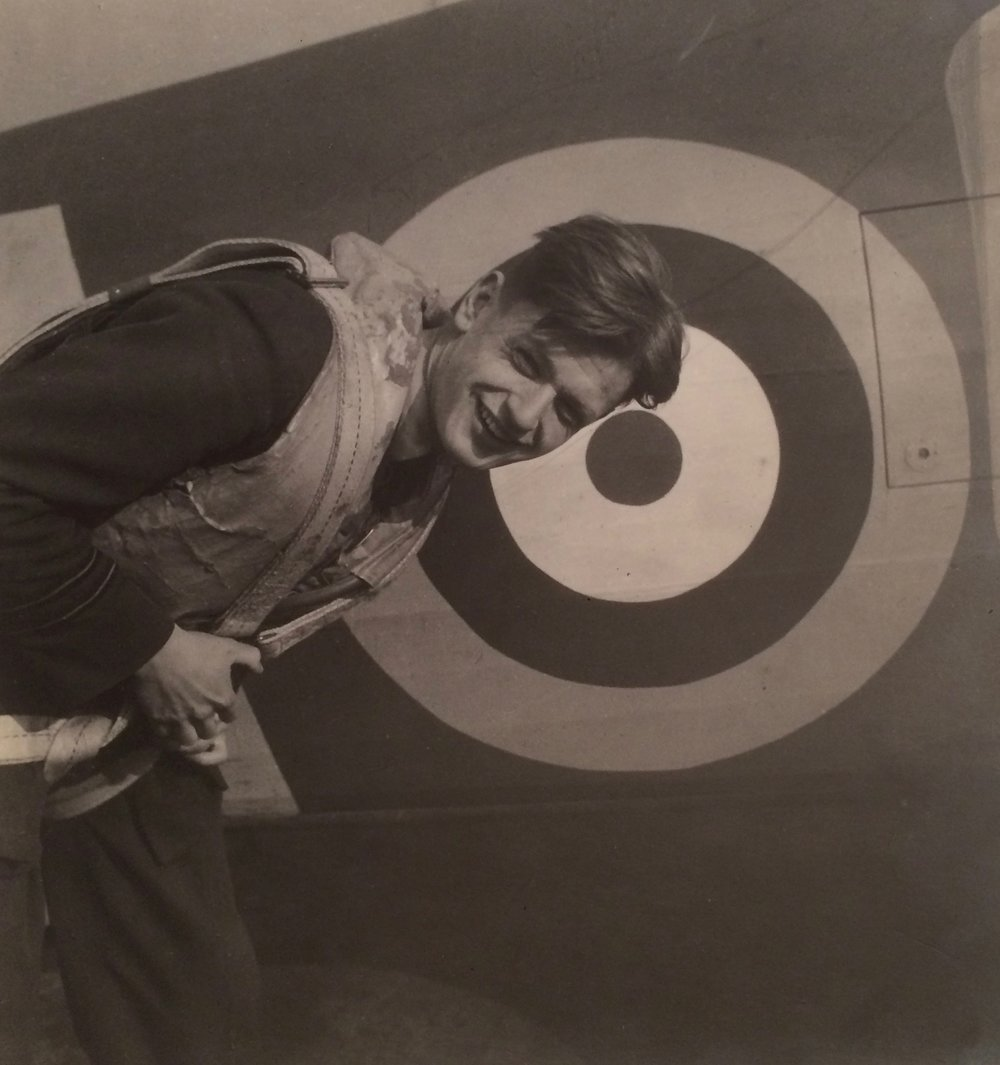 Cecil Beaton:  ACTING FLIGHT LIEUTENANT THOMAS 'GINGER' NEIL, NO 249 SQUADRON, RAF NORTH WEALD, 1940. Vintage silver gelatin print.