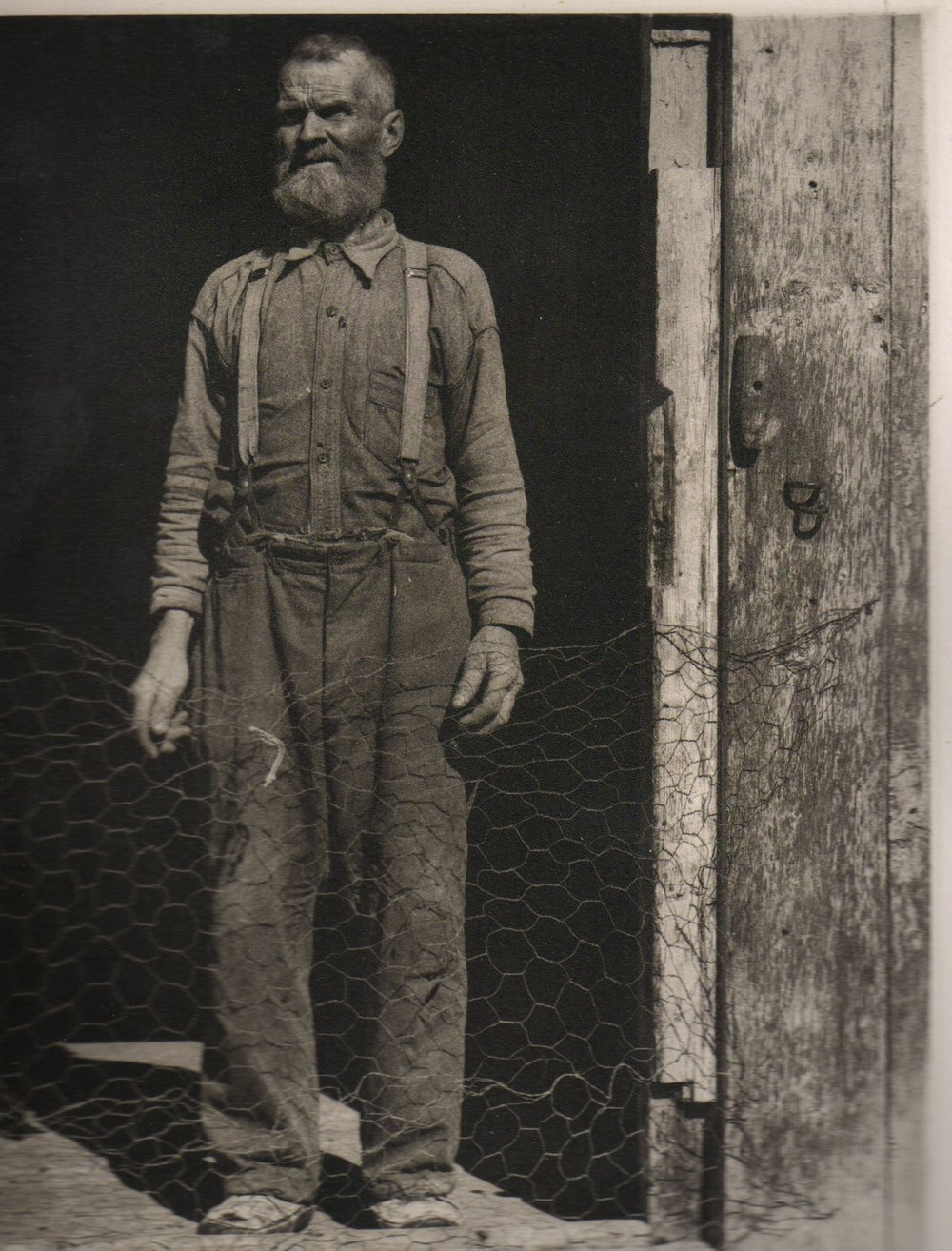 Paul Strand:  Fisherman, Gaspe. Photogravure.