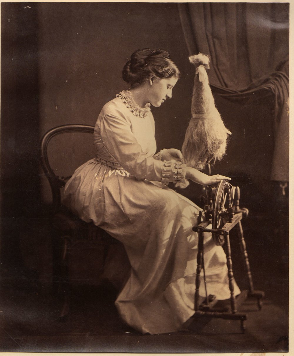 Woman Spinning, possibly by Rejlander