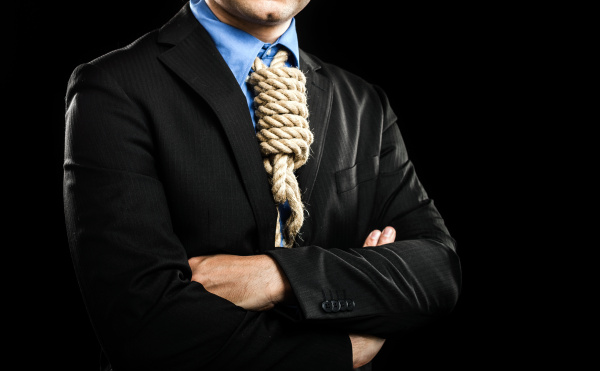 Hanged businessman