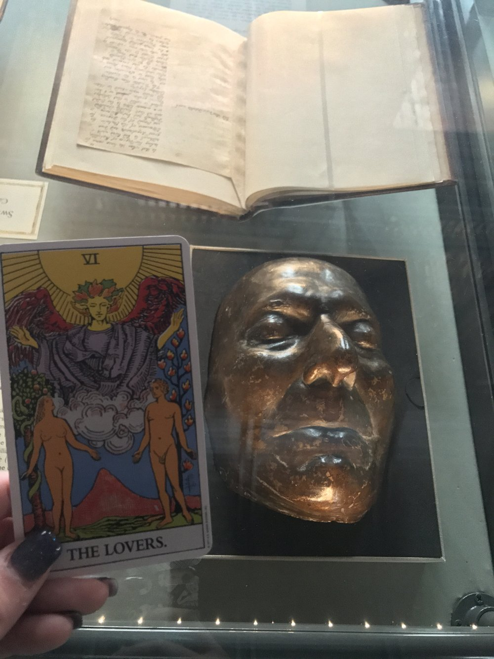 Day Twelve: Johnathan Swift's Death Mask. The Lovers.