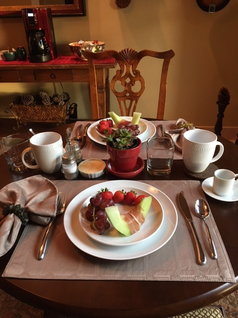 A European Style Continental Breakfast at Villa Vigneto Texas