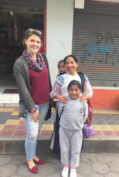 A friend & her children in Ecuador.