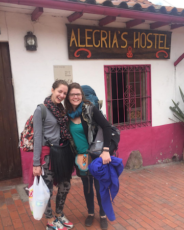 Monika, my travel buddy from Switzerland, & I in Bogotá, Colombia. We met in Spanish school in Cartagena!