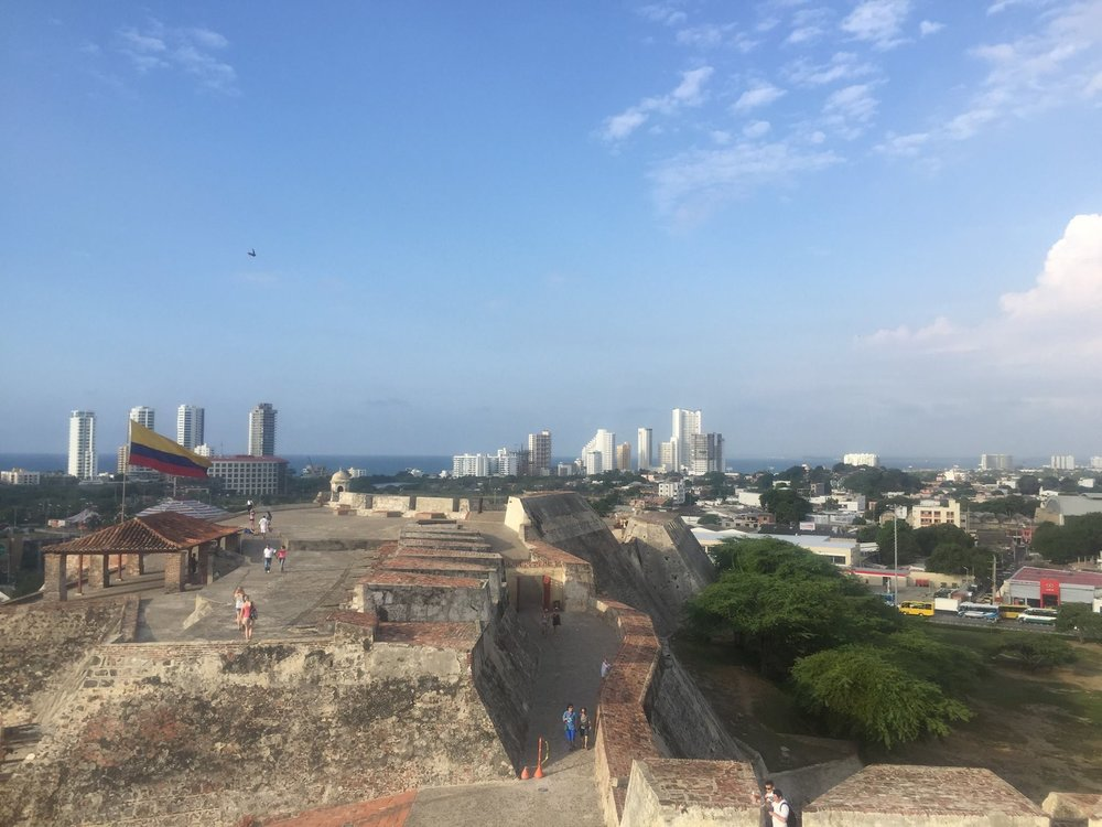 View from Cartagena's historic   Castillo San Felipe de Barajas  , a UNESCO World Heritage Site that dates back to 1536.