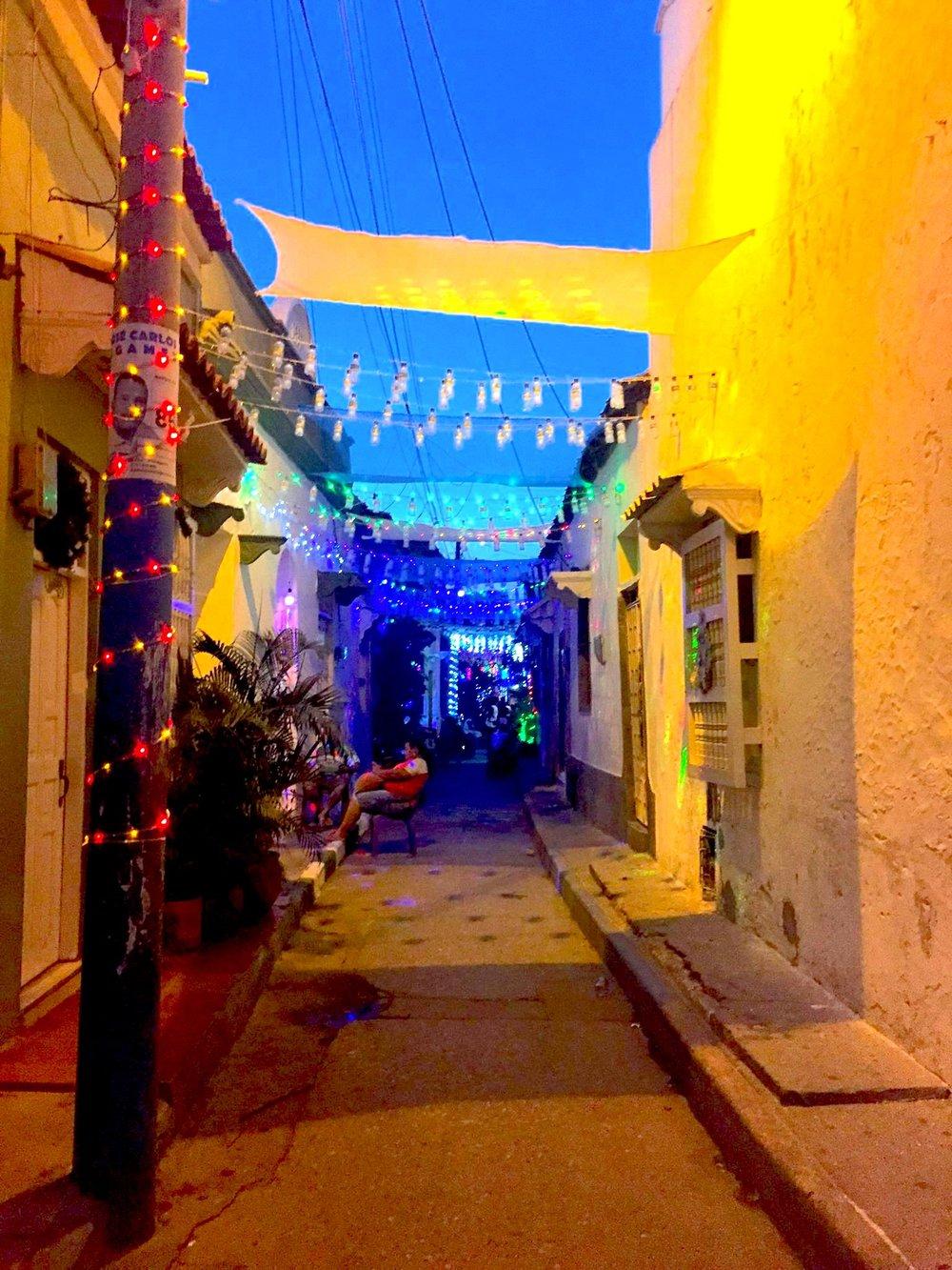 A festive   barrio   in Getsemani.
