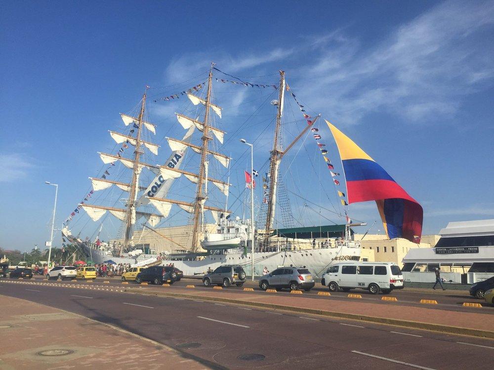 The harbor in Cartagena.