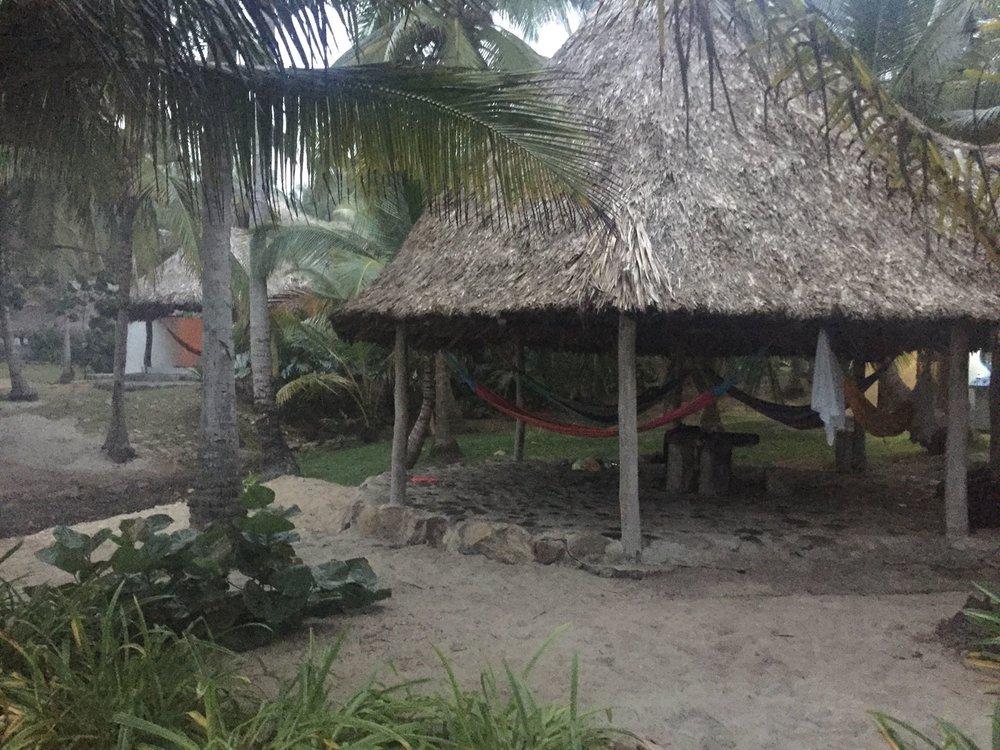 Our hammocks at Casa Lina.