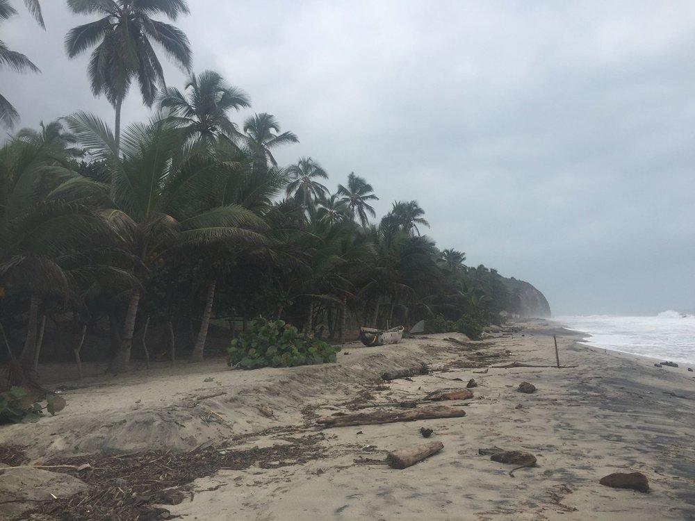 The beach we slept on.
