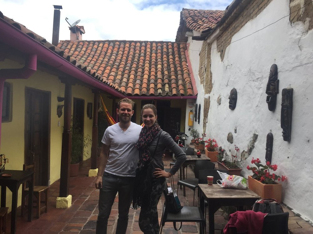 My friend Monika & another traveler - Alegría's hostel.